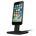 TW-HIRISE2LUXE-NOIR - Support de charge Twelve-South HiRise 2 Deluxe iPhone Lightning aluminium noir