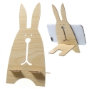 WOODSTAND-LAPIN - Support LAPIN en bois pour smartphone
