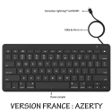 ZAG-KEYBOARDLIGHT - Zagg Clavier AZERTY filaire prise Apple Lightning